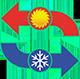 klíma hűtés fűtés ikon, klímaszerelés